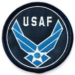 アメリカ空軍 ミリタリー ワッペン USAF丸型