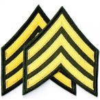 アメリカ陸軍 ミリタリーパッチ 三等軍曹両肩用2Pセット ワッペン サバゲー装備