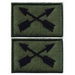 ミリタリーパッチ 米軍部隊章特殊部隊将校 ワッペン OD-G 2Pセット