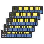 【まとめ買い】KORG nanoKEY2 BLYL ブルー&イエロー 5個セット USB/MIDIキーボード