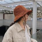 ハット 帽子 レディース コーデュロイ おしゃれ きれいめ レトロ つばあり 秋 冬 10代 20代 30代 40代 50代 大人 カジュアル 暖かい   ブラ