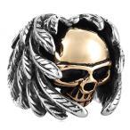 GDSTAR ヘルズ ・ エンジェルス クラブ宝石リング広州 Spplier 男の羽スカル ゴールド リング 7.0 を銅 正規輸入品