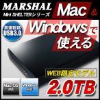 外付けHDD 2TB MAL22000H2EX3-MAC HDD Mac ポ�