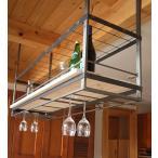 ムク キッチン吊り棚 メッシュ棚+木板1段使用 MUK-1560-M サンドブラック塗装(木板別売り)杉山製作所