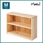 ひのきデスク下本棚・M型 国産ヒノキ無垢 天然木製 ロータイプ 書棚 収納棚 ラック 日本製