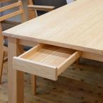 ヒノキテーブル奥行面引出しユニット 1個 プレーン・ナチュラルテーブル・Pデスク用 日本製