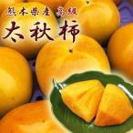 太秋柿 熊本 九州 高級品種 秀品 箱込 約1.5kg (3〜8玉)