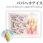 父の日 ババヘラアイス キャンディー&カップセット (進藤冷菓) 秋田名物 シャーベット 氷菓