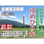 元年産 20キロ 北海道米 苫前産 玄米 ゆめぴりか 安心 イエスクリーン 農薬等節減 精米無料 10kg小分け無料