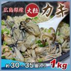 生カキむき身〔加熱用〕1kg(30〜35入)春夏はかき飯がうまい 秋冬は牡蠣鍋で、パスタも特別な調理方法を1カット1カットのカラーレシピ付