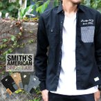 ワークシャツ メンズ SMITH'S AMERICAN スミスアメリカン ワークシャツ 長袖 ツイル シャツ アメカジ