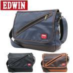 メッセンジャーバッグ メンズ メッセンジャーバッグ レディース ショルダー 斜めがけ 革 レザー 鞄 カバン 軽量 おしゃれ EDWIN エドウィン