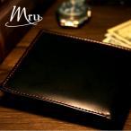 二つ折り財布 メンズ 財布 革 牛革 薄い 軽量 ビジネス 新品 Mru エムアールユー マルカワ