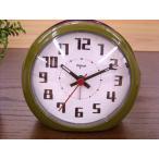 秒針が静かな目覚まし時計!バックライト付き!ティクエアラームクロック 【GR】 ※定形外可400円