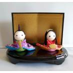 【わらべ おひなさま】雛人形  ひなまつり ひな人形 ミニ雛 金屏風付き ちりめん