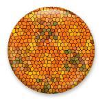 【缶バッジ】モザイクバッジ 渋カラー オレンジ