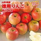 りんご 送料無料 山形県産 徳用 約10kg サイズ・品種おまかせ規格外品 ※小傷色ムラ変形等あり