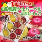 【限定100箱】クリスマスギフト 洋梨 送料無料 りんご 山形県産 シルバーベル & サンふじ 3kg(サイズおまかせ)
