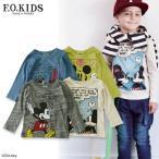 F.O.KIDS エフオーキッズ DY4柄ミッキーTシャツ R406056 キッズ ベビー トップス 長袖 ロンT 子供 子ども 4014961 f6s