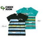 CHEEK ROOM チークルーム ボーダー新幹線半袖Tシャツ 470135 キッズ ベビー トップス 子供 子ども プリント  4016174