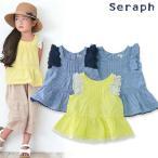Seraph セラフ 3色2柄ペプラムチュニック S214037 キッズ ベビー トップス 半袖 ワンピース 子供 子ども 4016257