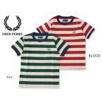 FRED PERRY フレッドペリー kids Striped Ringer T-Shirt SY1534 キッズ ベビー トップス 半袖 子供 子ども Tシャツ 4016295