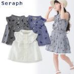 Seraph セラフ 3色2柄ノースリーブブラウス S309017 キッズ ベビー トップス シャツ 女の子 子供 こども 子ども 4016623