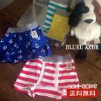 BLUEU AZUR ブルーアズール パンツ2Pセット(ボーダー・イカリ)C80460-50 7006532 子供肌着 キッズ ベビー セット 通園 通学 ポッキリ ぽっきり セール