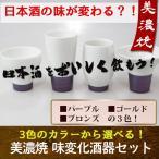 日本酒の味がガラリと変わる?!味変化酒器4点セット (徳利なし)日本製  日本酒 飲み比べ 蛇の目 猪口 グラス 盃 土産