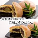 和菓子 老舗のどら焼きと大粒栗の栗どら焼き 2種 詰め合わせ 10個入り ギフト お中元