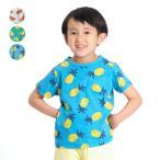 21夏セール30%OFF価格:【子供服】 moujonjon (ムージョンジョン) 日本製スイカ・バナナ・パイナップル蛍光ネップフルーツTシャツ キッズ 男の子 女の子 M34842