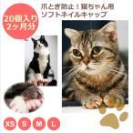 ネイルキャップ オレンジ XSサイズ 猫用 爪とぎ防止