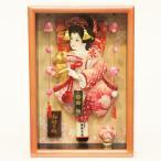 羽子板 初正月 壁掛け 額飾り のぞみ つるし付き パールピンク 正絹絞り振袖 8号 ミニ コンパクト 正月飾り 羽子板飾り