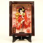 羽子板 初正月 壁掛け 額飾り 京彩 スタンド付き 舞姿 つるし付き 会津塗り 8号 ミニ コンパクト 正月飾り 羽子板飾り