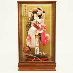 羽子板 初正月 平安豊久 春日 ケヤキ塗りケース 17号 正月飾り 羽子板飾り