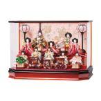 雛人形 コンパクト ケース入り 平安豊久 光彩 小芥子十人揃 オルゴール付き アクリルケース飾り