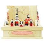 雛人形 コンパクト 木目込み 一秀 五人飾り 安土雛 21号 桐収納飾り