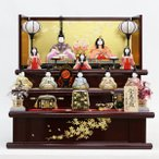 雛人形 コンパクト 木目込み 真多呂作 宝徳雛 木目込み 三段飾り 十人揃 正絹親王 久月監製
