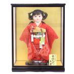 久月 市松人形 愛ちゃん 正絹総絞り ケース入り(HB45)
