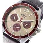 カシオ 腕時計 メンズ MTP-1374L-7A1V 希少逆輸入モデル クォーツ グレージュ ブラウン グレージュ ラッピング可