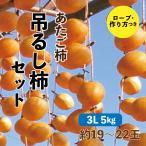 あたご柿 吊るし柿セット 愛媛県産 干し柿 3L 5kg 約19~22玉