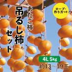 あたご柿 吊るし柿セット 愛媛県産 干し柿 4L 5kg 約13~19玉
