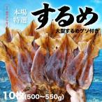 お歳暮 本場函館するめ 特大サイズ10枚入り(500g〜550g) ビックリサイズ 北海道産 スルメ 珍味 おつまみ