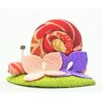 置物 コンパクト ちりめん 小さい 手作り/あじさいかたつむり/梅雨 かえる 紫陽花 人形 飾りミニ 可愛い人気