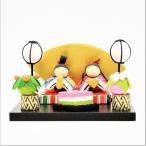 雛人形 弥生座雛〈コンパクト お雛様 ミニ ちりめん 雛祭り かわいい 雛人形 桃の節句 3月 和風 インテリア 縮緬〉