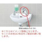 L-15G セット INAX イナックス LIXIL・リクシル 手洗器 壁付式 水栓 LF-1 壁給水・床排水(Sトラップ)