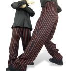 政吉オリジナル商品LTP0500PNK 黒×ピンクストライプ ダンサー用きれいめパンツ 男女兼用 S M L 2L 秋冬モデル