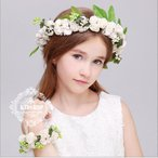 フラワーベール子供髪飾りキッズヘアアクセサリー花冠フォーマルパーティー結婚式発表会女の子ピアノ