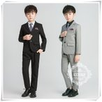 男の子入学式卒園式 スーツ子供服 お受験フォーマル発表会長袖シャツパンツ 結婚式 5点セット