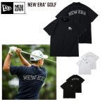 ニューエラ Tシャツ NEW ERA GOLF ゴルフ 半袖 パフォーマンス ミドルネック Tシャツ ピンフラッグロゴ アーチロゴ ゴルフウェア UVカット 速乾
